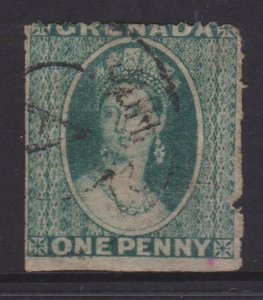 Grenada Sc#1a Blue Green Used