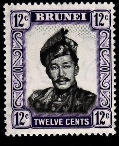 BRUNEI SG107, 12c black & violet, LH MINT.