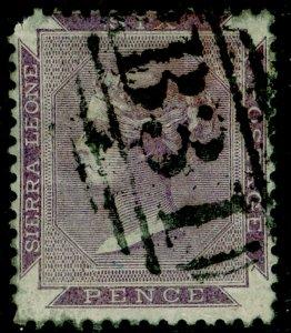SIERRA LEONE SG2, 6d grey-lilac, USED. Cat £42.