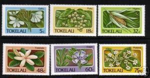 TOKELAU 1987 FLORA SET 6 MNH
