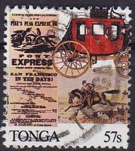 TONGA [1989] MiNr 1104 ( O/used ) ex Block