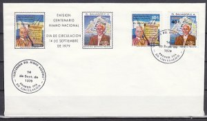 Salvador, Scott cat. 914, C461. Composers of Nat'l Anthem. First day cover. ^