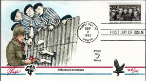 Beautiful Pugh Designed FDC WWII Holocaust Survivors  #23 of 101