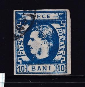 Romania an 1869 imperf 10b used