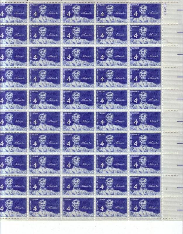 U.S. Full Sheet Sc.# 1116 Abe Lincoln  MNH