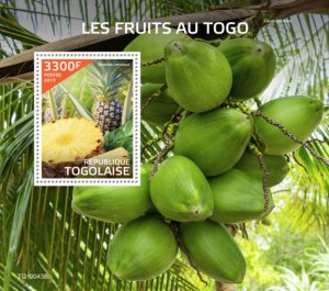 TOGO - 2019 - Fruits in Togo - Perf Souv Sheet  - M N H