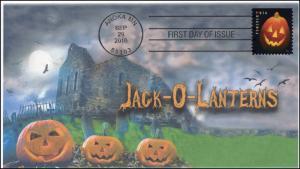 2016,  Jack O Lanterns, Halloween, Pumpkins, Pictorial Postmark, FDC, 16-295
