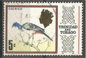 TRINIDAD AND TOBAGO, 1969, used 5c, chachalaca, Scott 146