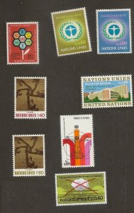 United Nations 22-29 Geneva year set (8 stamps) 1972