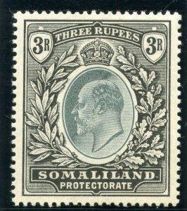 Somaliland 1904 KEVII 3r green & black MLH. SG 43. Sc 38.