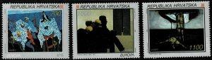 1993 Croatia Scott Catalog Number 159-161 Unused No Gum