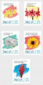 Caribbean Netherlands 2020 Flowers (Saba) - 5v MNH