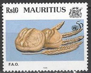 Mauritius  815  MNH  FAO 50th Anniversary