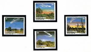 Botswana 380-83 MNH 1986 Halleys Comet