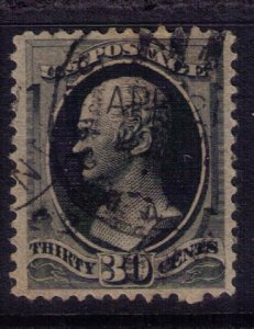 US SCOTT #154 USED DARK BLACK 30c F-VF
