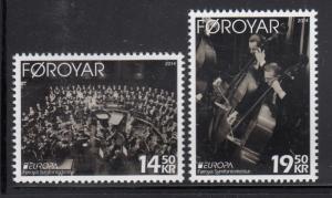 Faroe Islands MNH 2014 Set of 2 Symphony, music - EUROPA