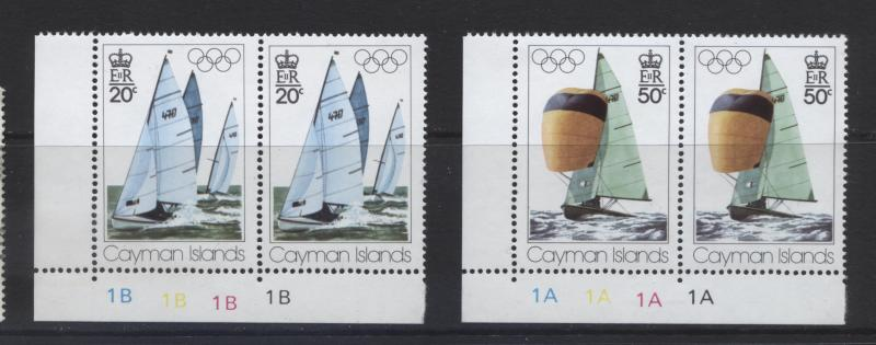 Cayman Islands - Scott 377-78- Olympic Games-1976 - MNH - Joined Pair-Set of 2