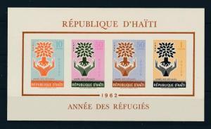 [19608] Haiti 1962 Refugee Year Trees VF Souvenir Sheet MNH