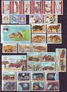 Z476 Jlstamps 1984 laos sets & s/s mh/mhr #529-34,591-8,561-8,577-83,535-7,599-