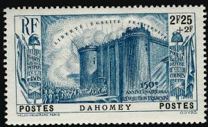 Dahomey French Revolution Semi-Postal Sc B7 VF Mint.hr...Make me an Offer!