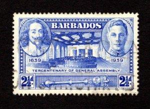 BARBADOS  SC# 205  FVF/U