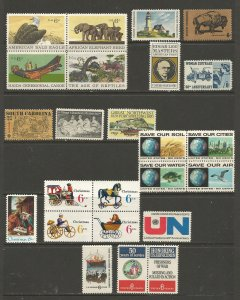 USA Postal Stamps MNH 1970 Commemoratives (24 stamps)