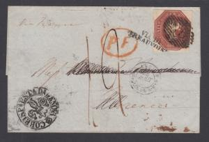 Great Britain SG 57, 10p brown QV on 1949 cover London to Florence, Italy. Cert.