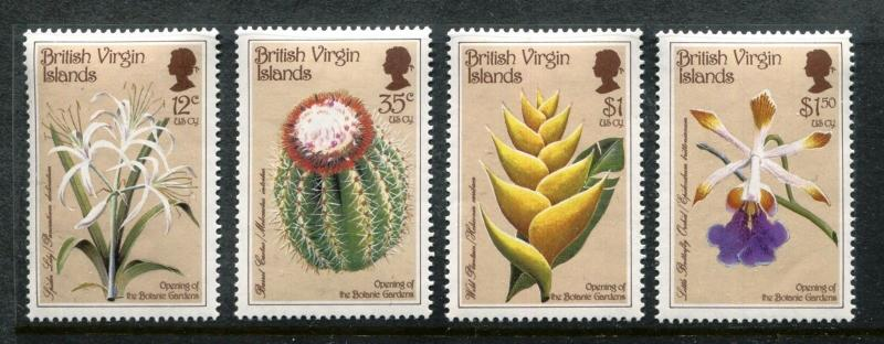British Virgin Islands 585-588, MNH, Flowers Orchids, plants 1987. x16243