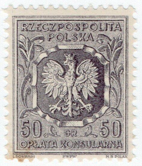 (I.B) Poland Revenue : Consular Service 50gr