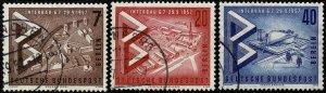 GERMANY BERLIN 1957 INTER.BUILD. EXHIB. USED (VFU) SG B156-8 Wmk.294 P.14 SUPERB