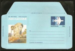 Australia Shearing (Sheep) 36 Cent Aerogramme MNH
