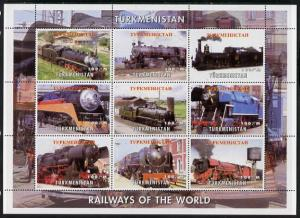 Turkmenistan 2002 Railways of the World - Steam Locos per...