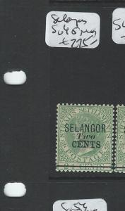 MALAYA SELANGOR (P0906B) QV 2C/24   SG45  MOG