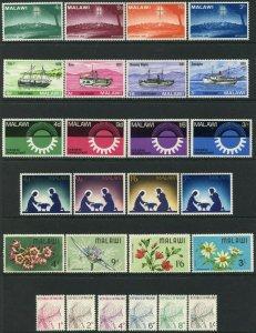 MALAWI  Sc#63-66//J1-J6 1966-68 Six Complete Sets & 1 S/S OG Mint Hinged