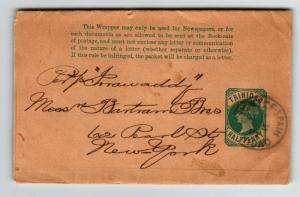 Trinidad Victorian Postal Wrapper to New York (II) - Z13712