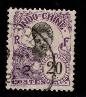 French Indo-China Scott 47 used 1907 Cambodian Girl