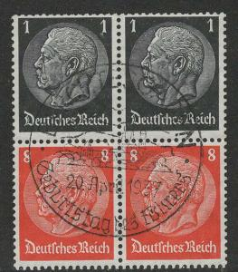 Germany Scott # 415 (2), 420 (2), used, se-tenant, Mi# 2x S135