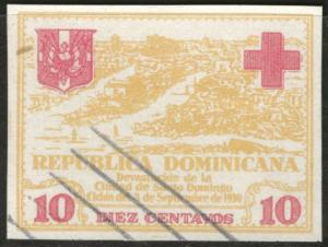 DOMINICAN REPUBLIC Scott RA8 used imperf