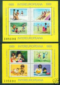 Romania Scott 3572-3 MNH** 1989 Children Sheet set