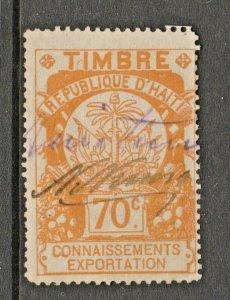 Haiti revenue fiscal stamp 2-27-