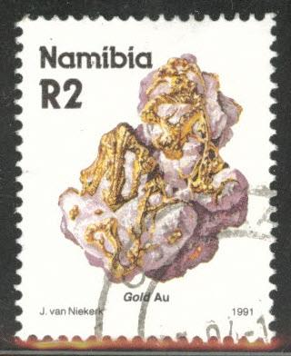 Nambia Scott 688 Used Gold mineral stamp