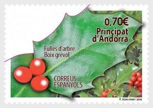 H01 Andorra Spanien 2019 Tree Leaves, Holly  MNH Postfrisch