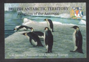 BRITISH ANTARCTIC 2006 Penguins of the Antarctic Booklet; Scott C3; SG SB1; MNH