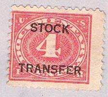 US RD3 Used 4c Stock Transfer 1 1918 (BP43210)