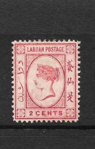 LABUAN  1885-86  2c   QV    MLH   SG 30