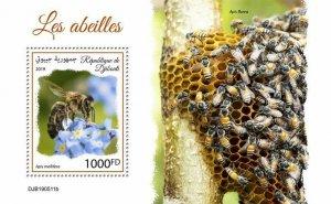 Z08 IMPERF DJB190511b DJIBOUTI 2019 Bees MNH ** Postfrisch