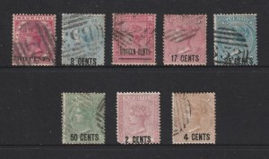 Mauritius a small lot of used QV
