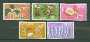 SURINAM/SURINAME 1974 MNH SC.B211/215 Child Welfare