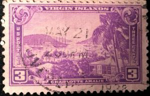 802 Virgin Islands, Territories Series, Circulated Single, Vic's Stamp Stash