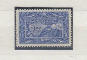 Canada KGVI 1951 $1 Ultramarine SG433 MLH J8562